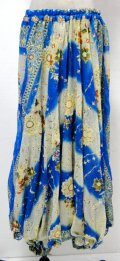 オリエンタルシフォンパンツスカート☆ブルー☆