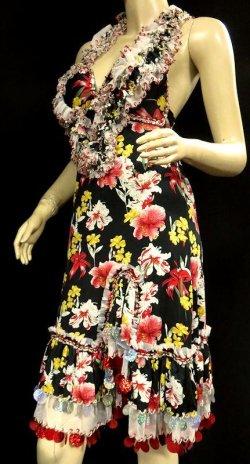 画像2: イスカンダラーニ(アレキサンドリア)ドレス☆フリルドブラカップ/ブラックフラワー☆
