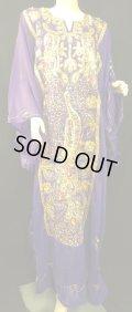 エジプト製ピーコックハリジドレス*purple*